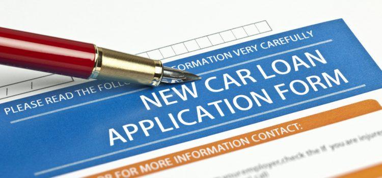 A new car loan application form