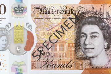 New plastic tenner